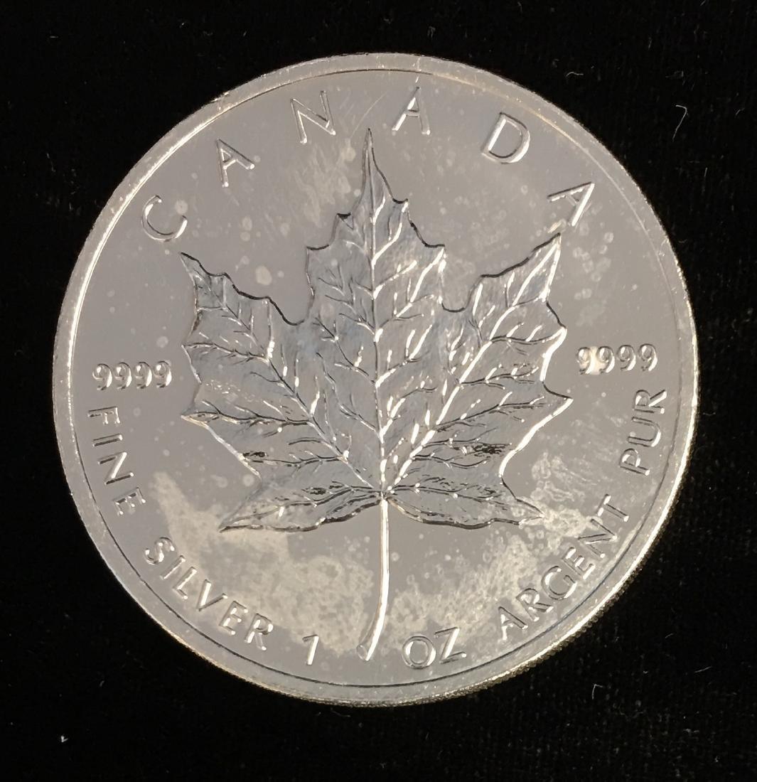 2008 $5 Canada Maple Leaf 1oz. Fine Silver BU