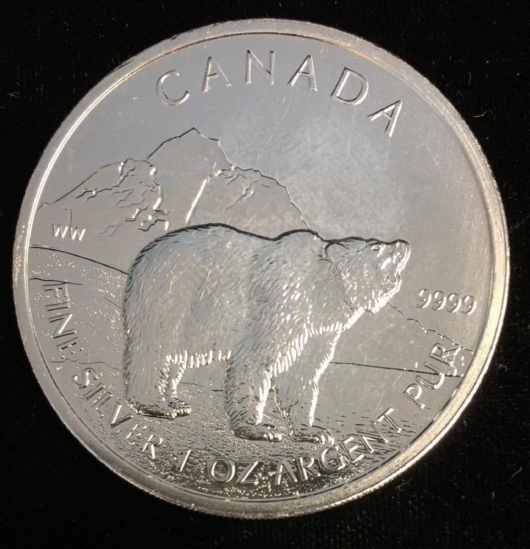 2011 $5 Canada Wild Life Series Grizzly 1oz. Fine