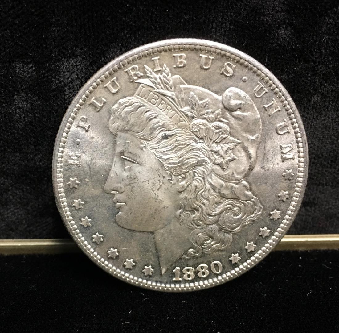 1880-S $1 Morgan Silver Dollar GEM BU
