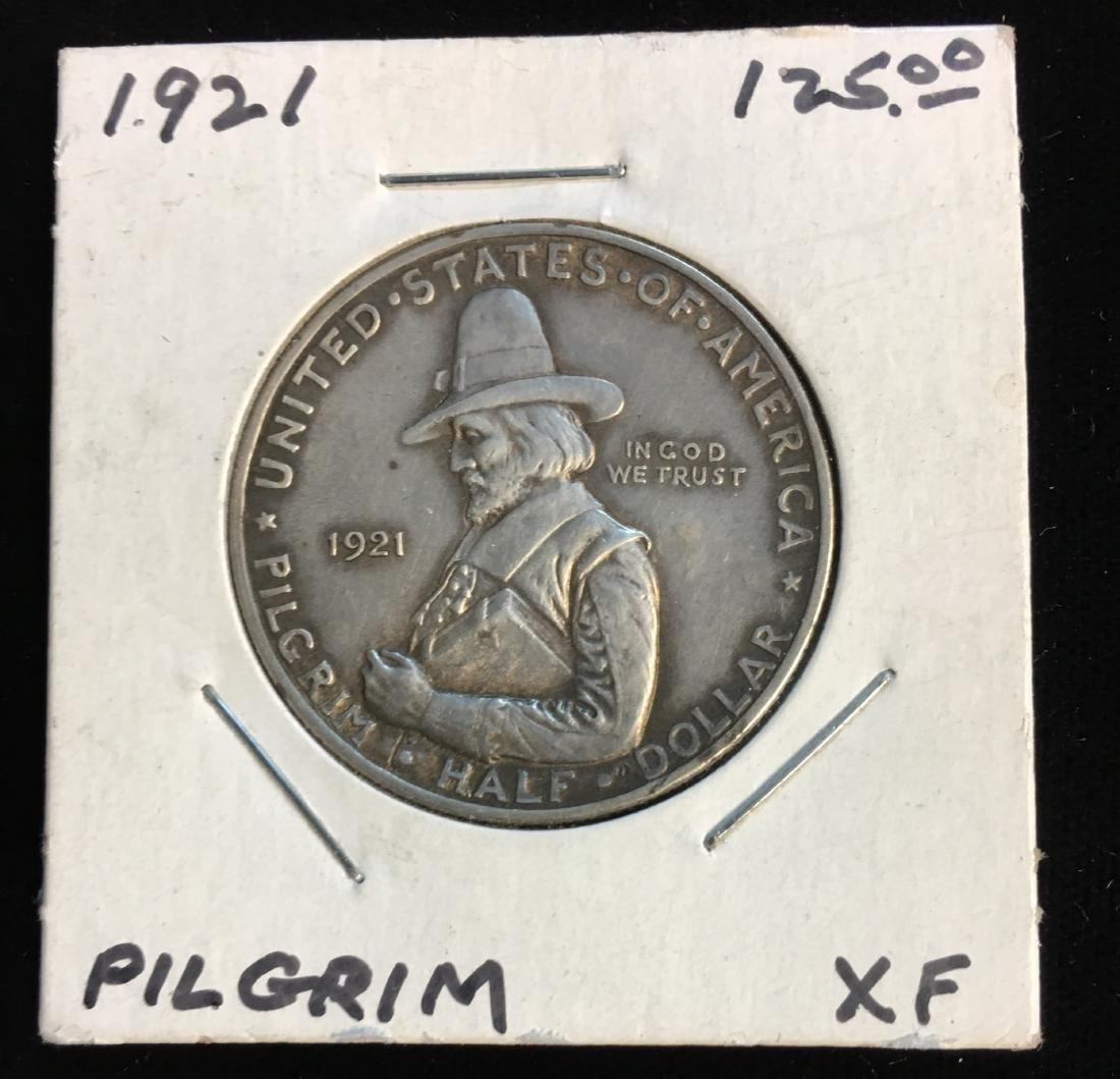 1921 50C Pilgrim Classic Commemorative Silver Half