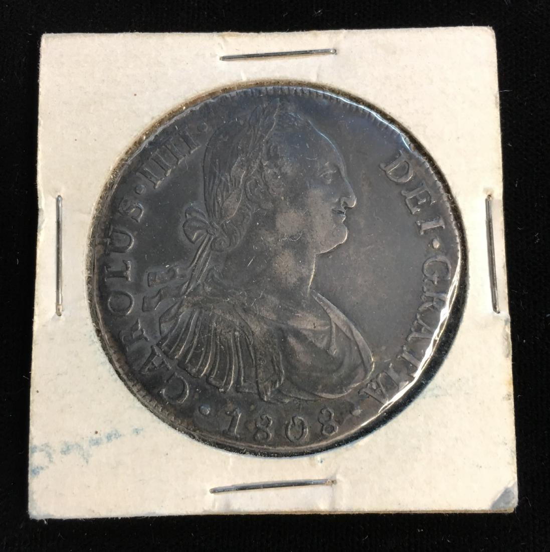 1808 Peru as Spanish Colony Silver 8 Real Shipwreck