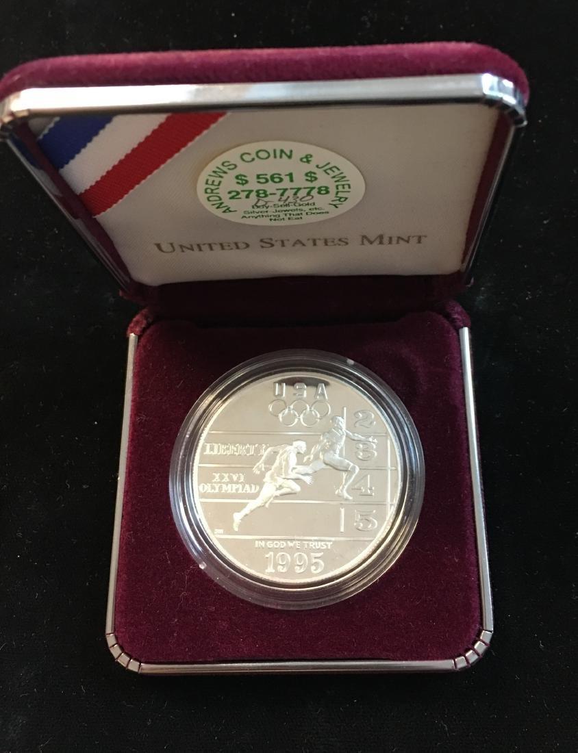 1995-P $1 XXVI Olympiad Track & Field Commemorative