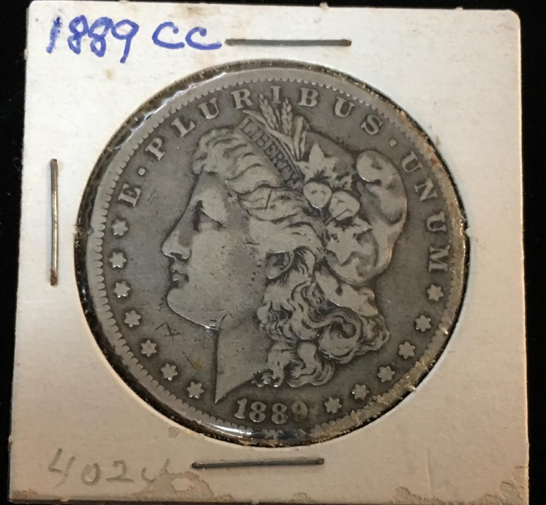 1889-CC $1 Morgan Silver Dollar