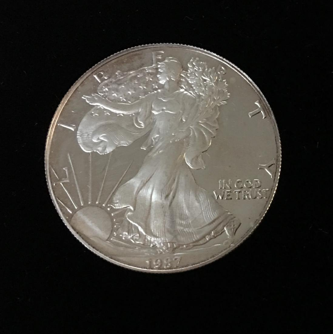 1987-S $1 American Silver Eagle Proof As Is