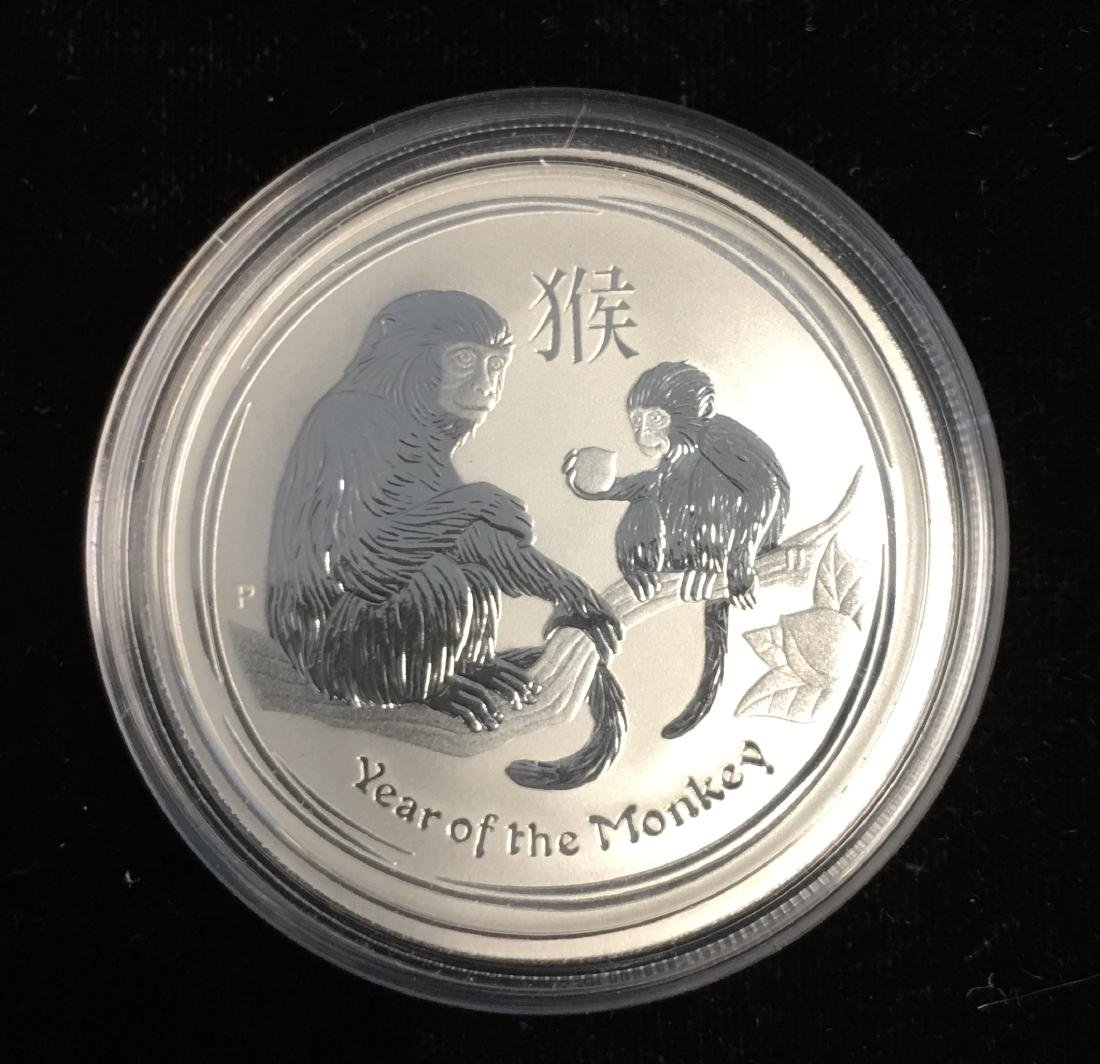 2016 50c Australia Year of the Monkey 1/2 oz. .999