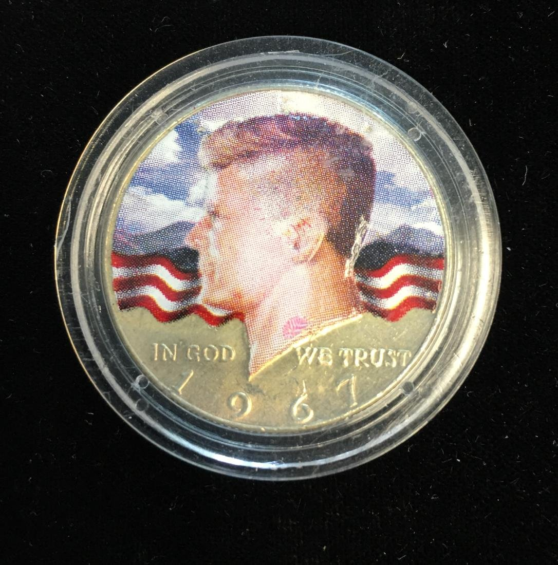 1967-P 50C Kennedy Half Dollar BU 40% Silver Colorized