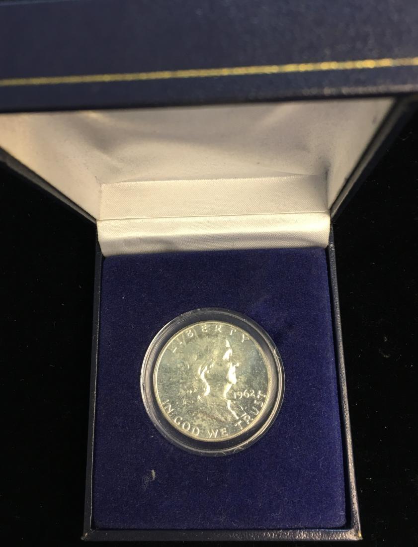 1962-P 50C Franklin Silver Half Dollar Proof in a box
