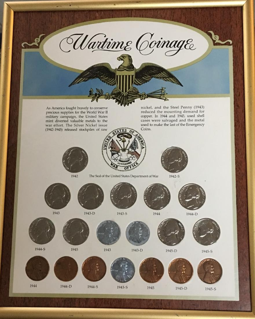 Wartime Coinage in a Frame: Jefferson Nickels & Lincoln