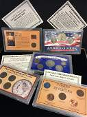 Set of 5  The American Historic Society  Genuine Coin