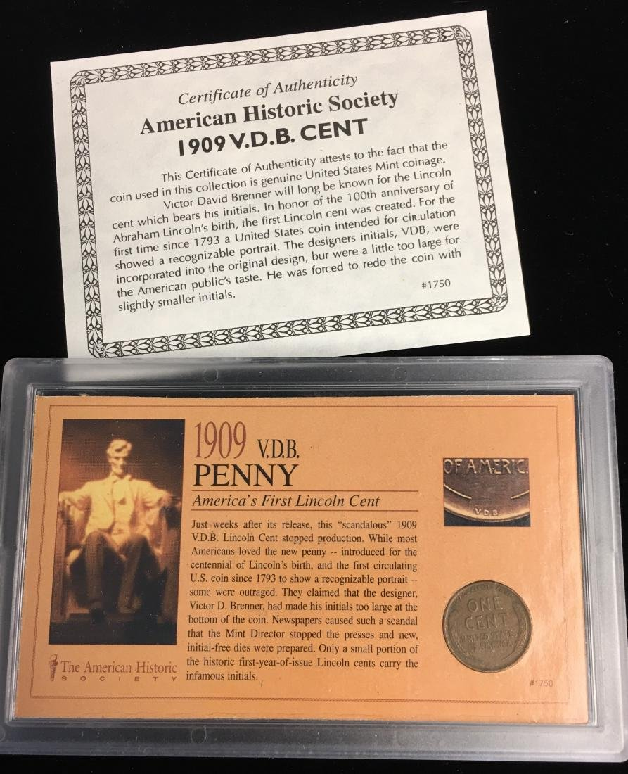 Set of 5 - The American Historic Society - Genuine Coin - 2