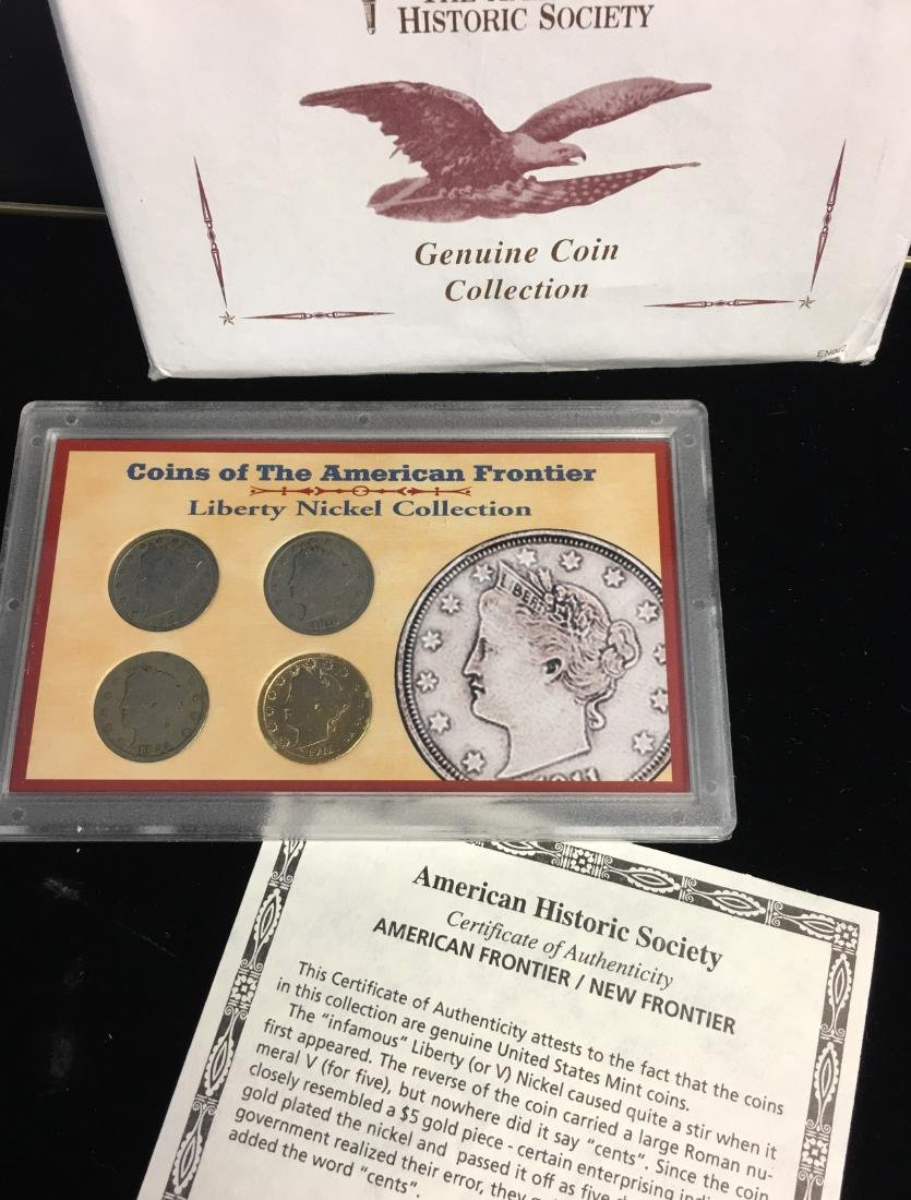 Set of 5 - The American Historic Society - Genuine Coin - 5