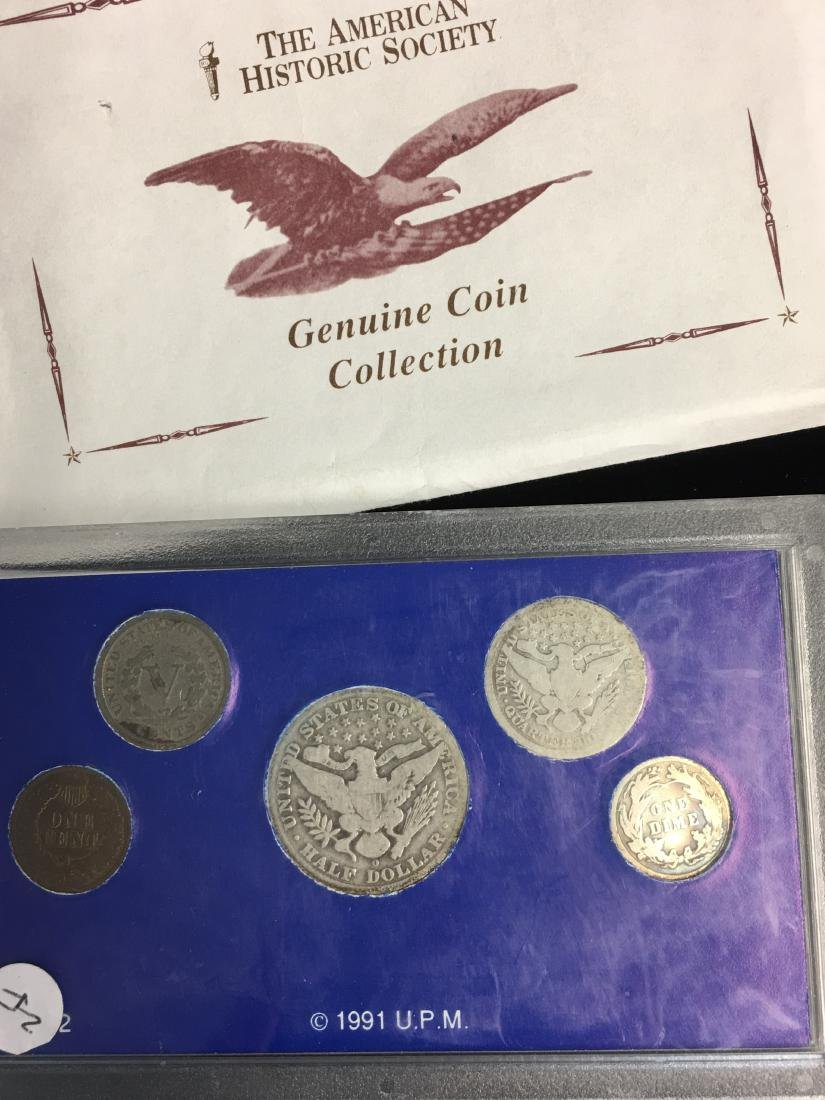 Set of 5 - The American Historic Society - Genuine Coin - 9