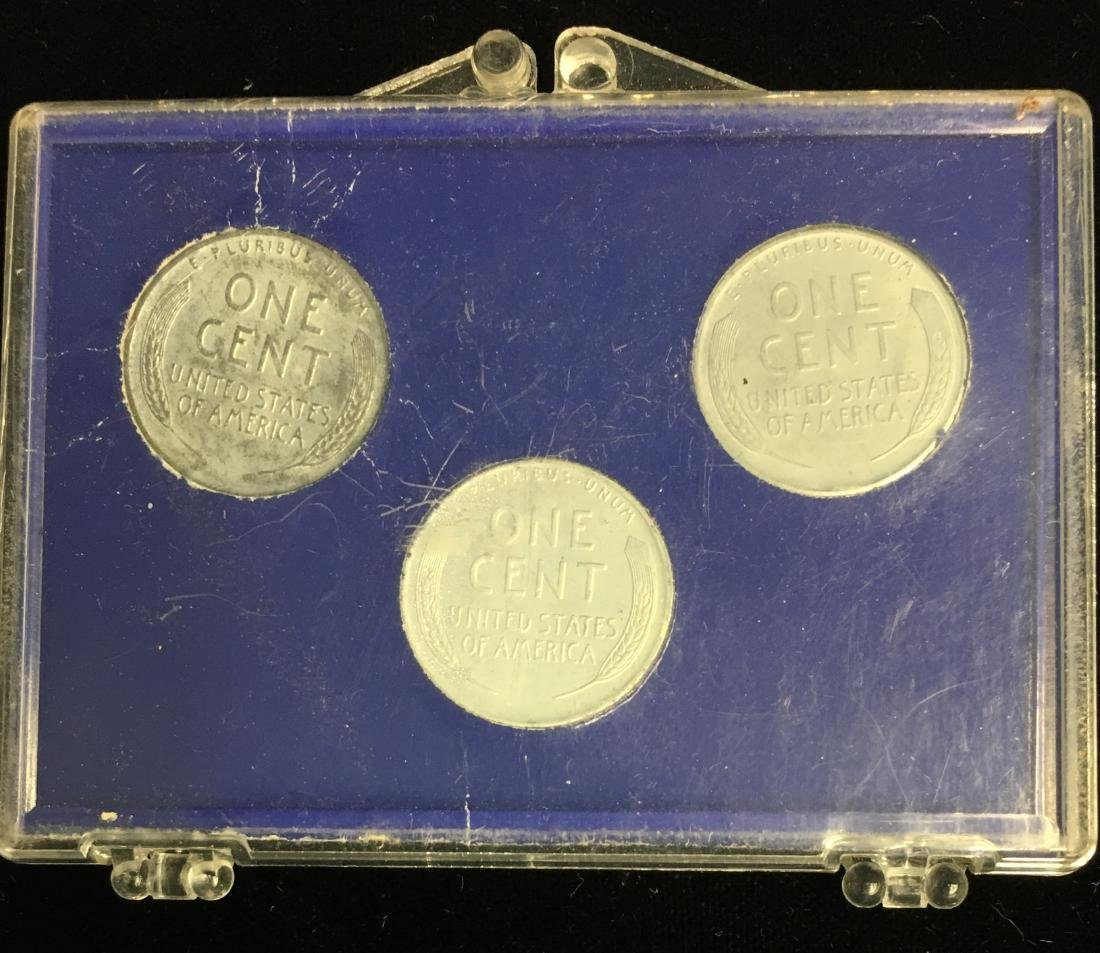 Set of 3 - Pennies Sets: 1943-PDS Steel Cents; 1905 - 5