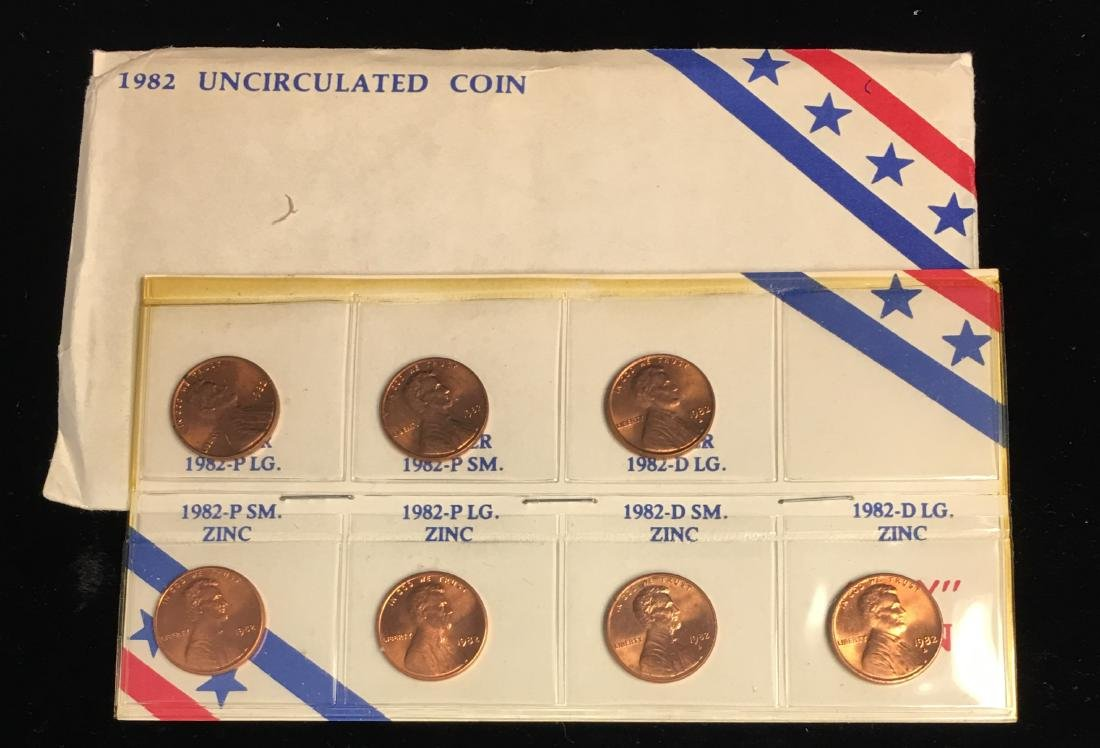 1982 Uncirculated Coin Set - Lincoln Cents