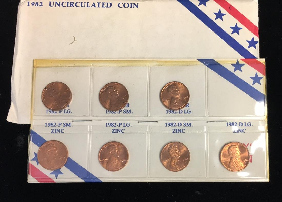 1982 Uncirculated Coin Set - Lincoln Cents - 2
