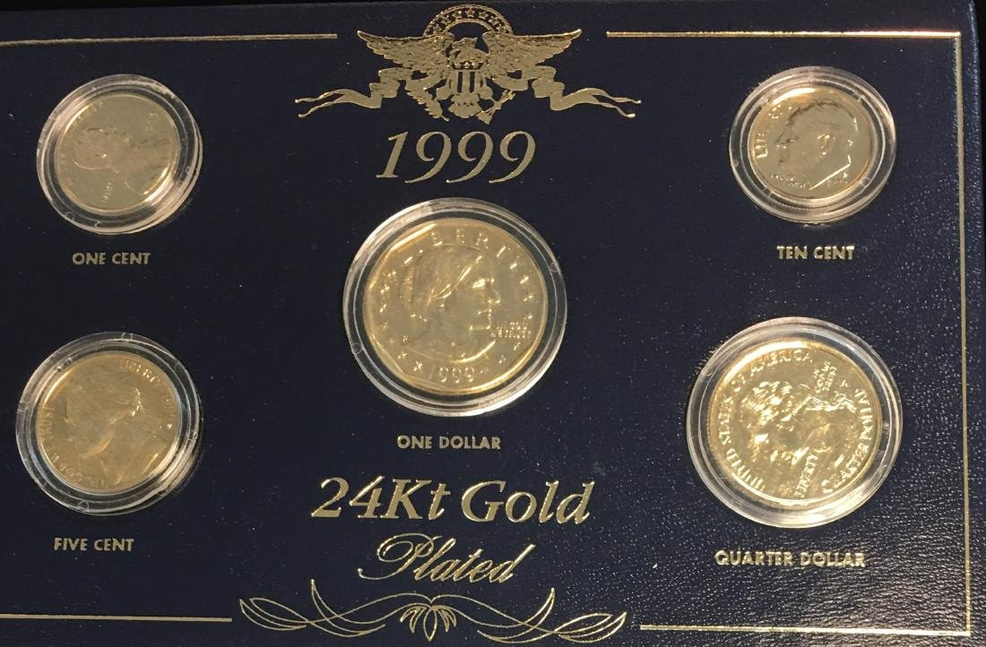 1999 24Kt Gold Plated Coin Set - 2
