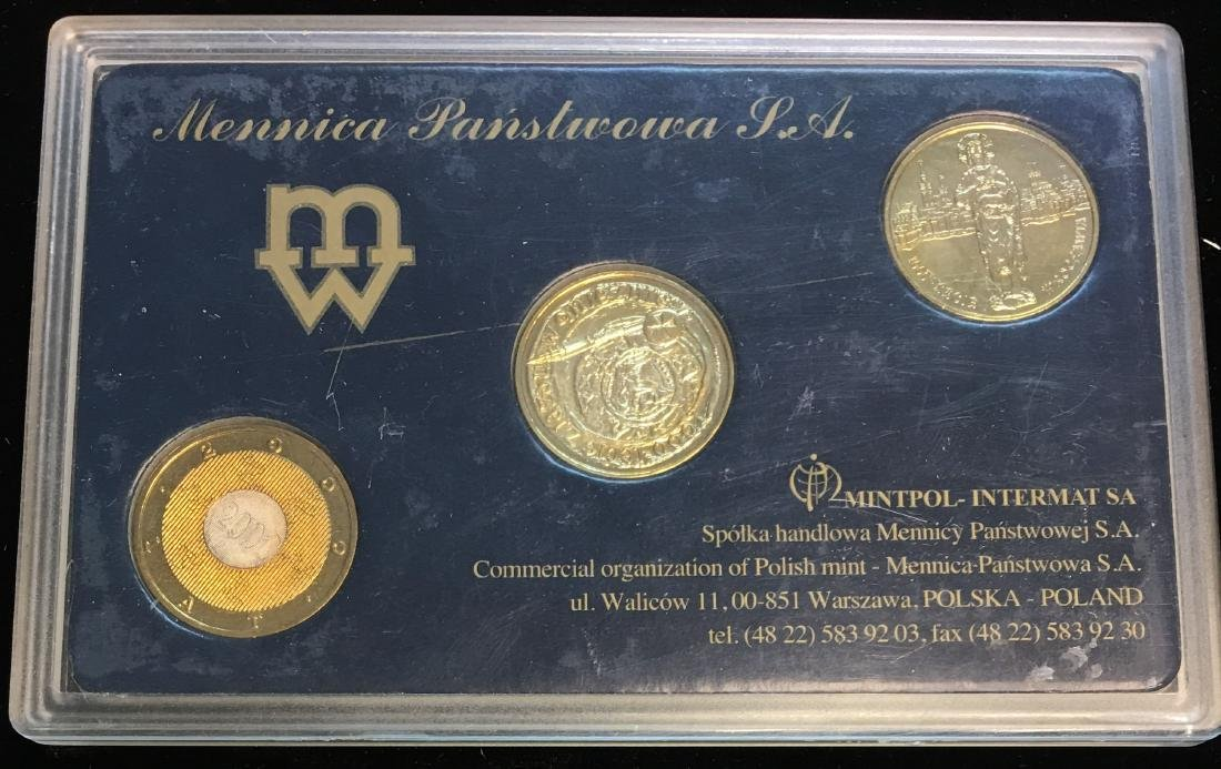2000 Poland Set of 3 coins Uncirculated