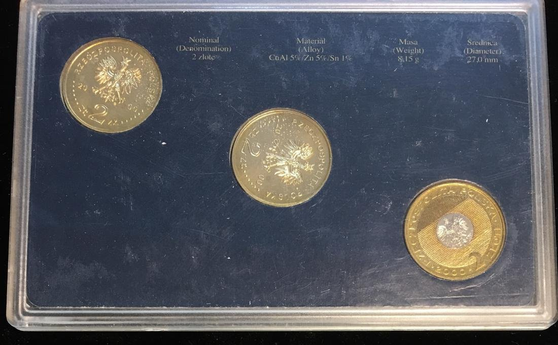 2000 Poland Set of 3 coins Uncirculated - 2