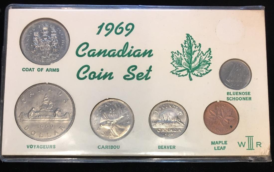 1969 Canadian Coin Set of 6 Coins Specimen