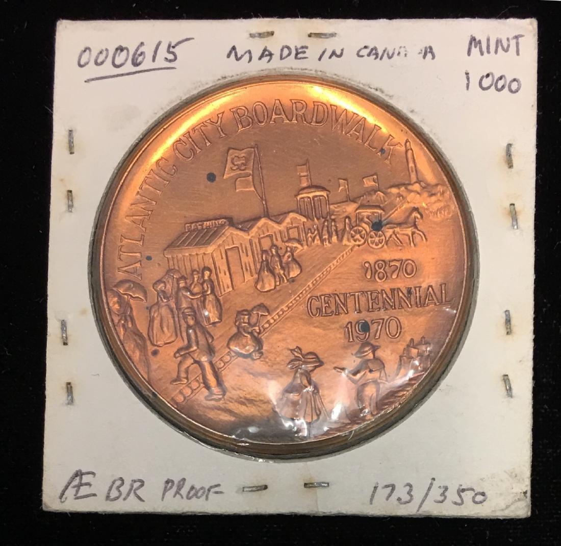 1970 Canada Atlantic City Boardwalk Centennial Medal