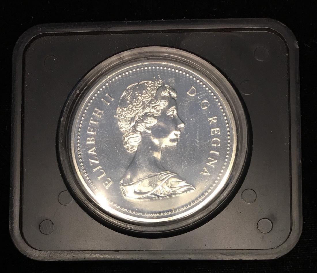 1975B Canada $1 Calgary Centennial .500 Silver 0.375 oz