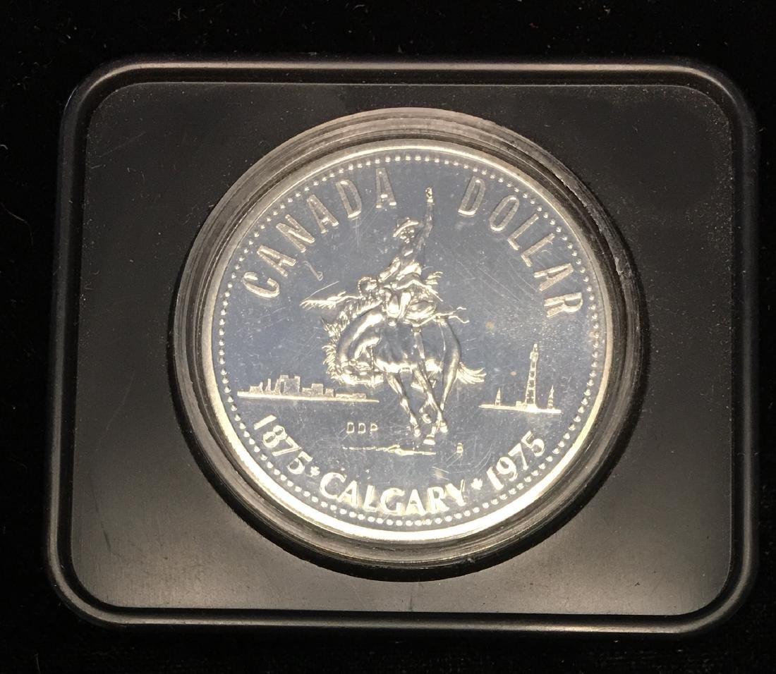 1975B Canada $1 Calgary Centennial .500 Silver 0.375 oz - 2