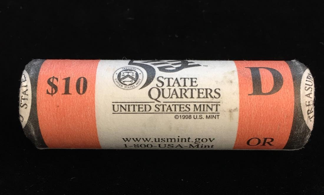 2005-D 25c Oregon Quarter US Mint Roll of 40 - $10