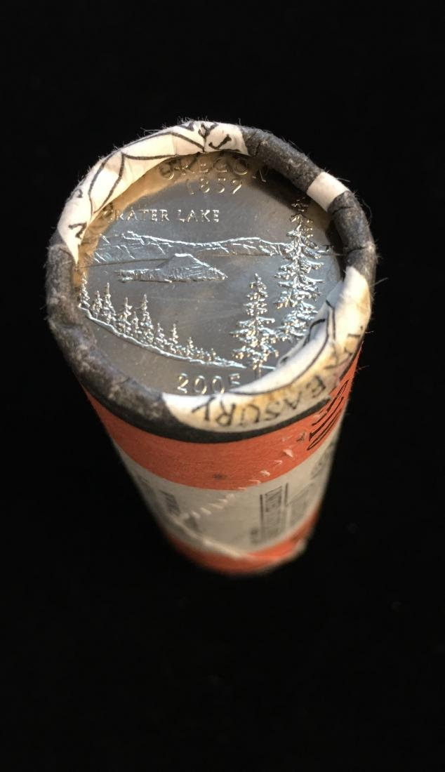 2005-D 25c Oregon Quarter US Mint Roll of 40 - $10 - 2