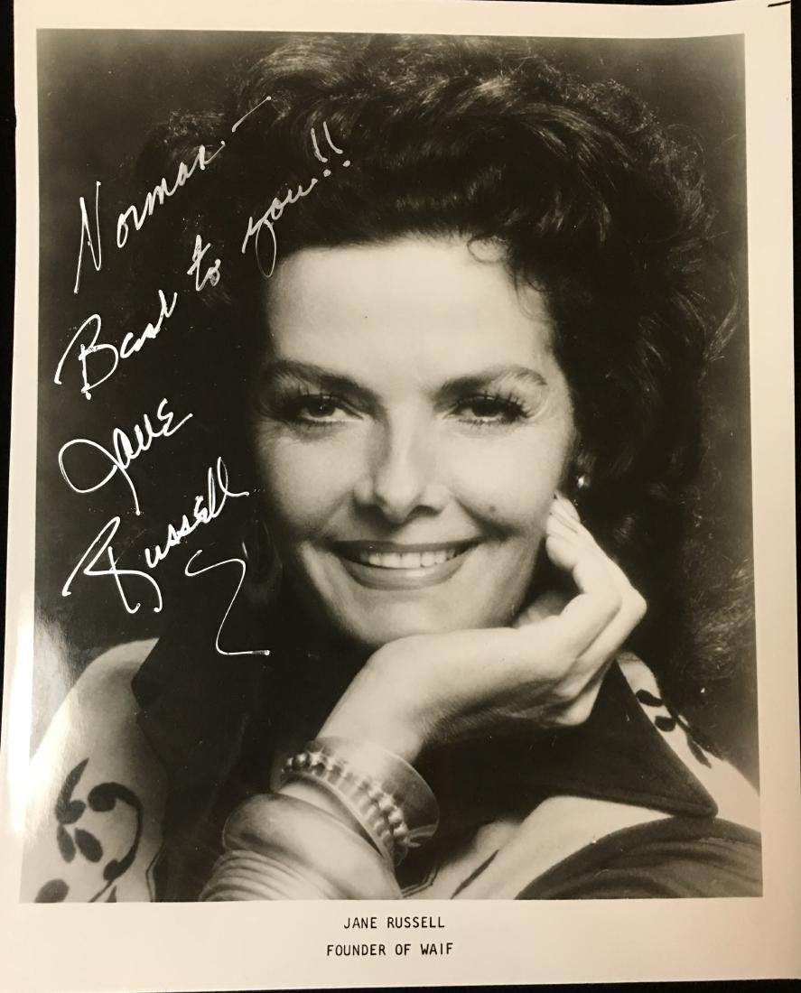 8 x 10 Signed Photo of Jane Russell - Founder of Wife -