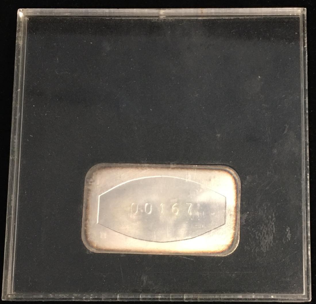 1 oz .999 Fine Silver Art Bar in Memory of J. Kennedy - 2
