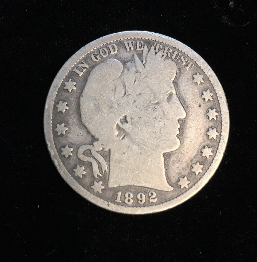 1892-P 50C Silver Barber Half Dollar (Liberty Head)