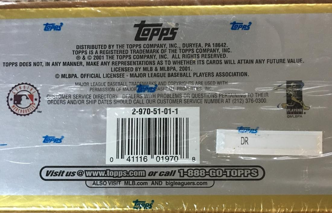 2001 Not Opened Complete Set of Major League Topps - 3