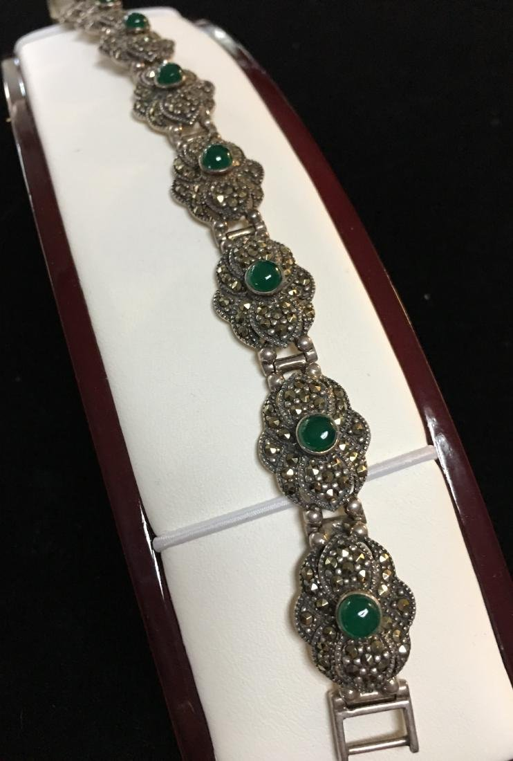 """Antique Lady's Sterling Silver Vintage Bracelet 8"""""""