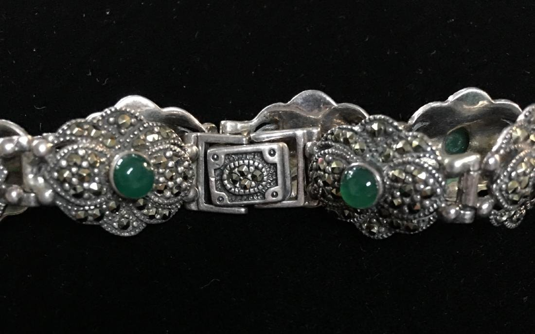 "Antique Lady's Sterling Silver Vintage Bracelet 8"" - 4"