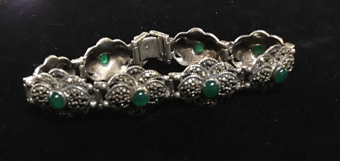 "Antique Lady's Sterling Silver Vintage Bracelet 8"" - 5"