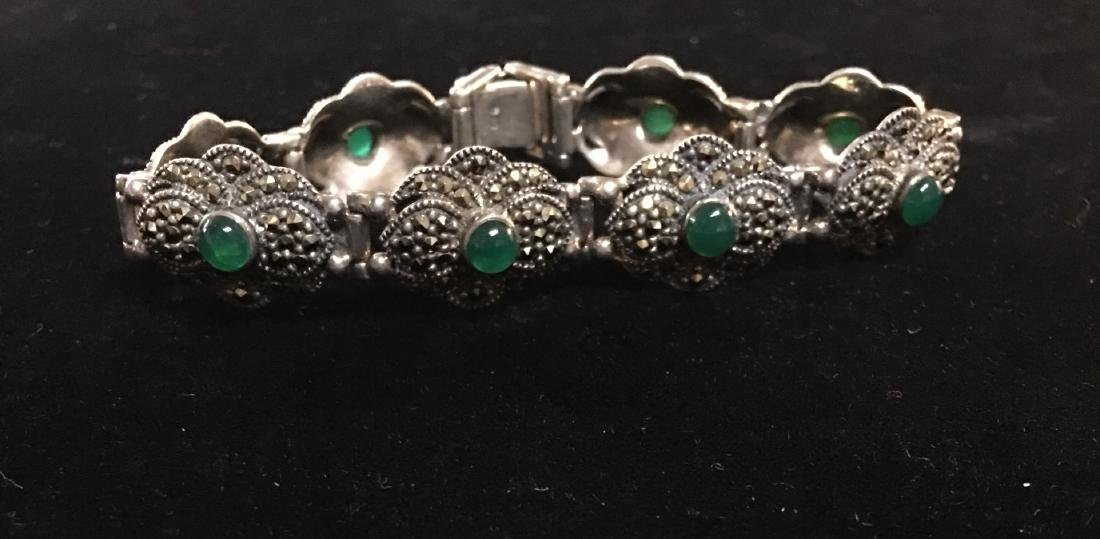 "Antique Lady's Sterling Silver Vintage Bracelet 8"" - 6"