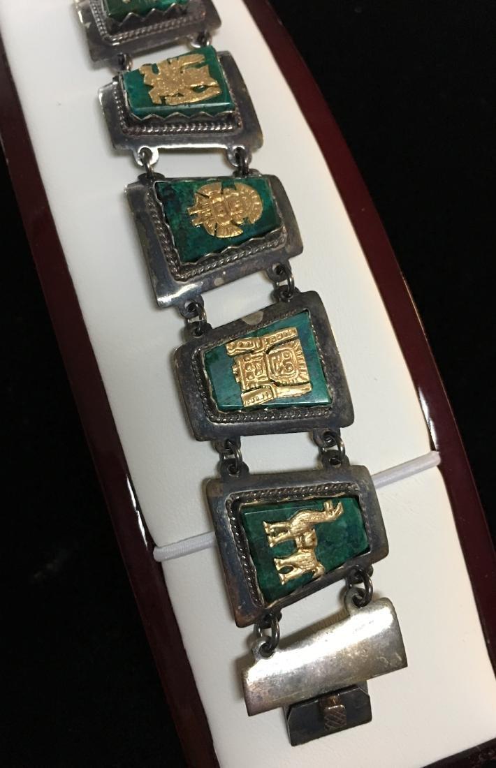 Antique Lady's Sterling Silver Lady's Vintage Bracelet - 5