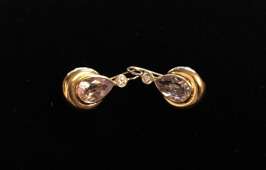 14 Kt Yellow Gold Earrings 3.0 dwt Approx. 3 1/2 ct. - 3