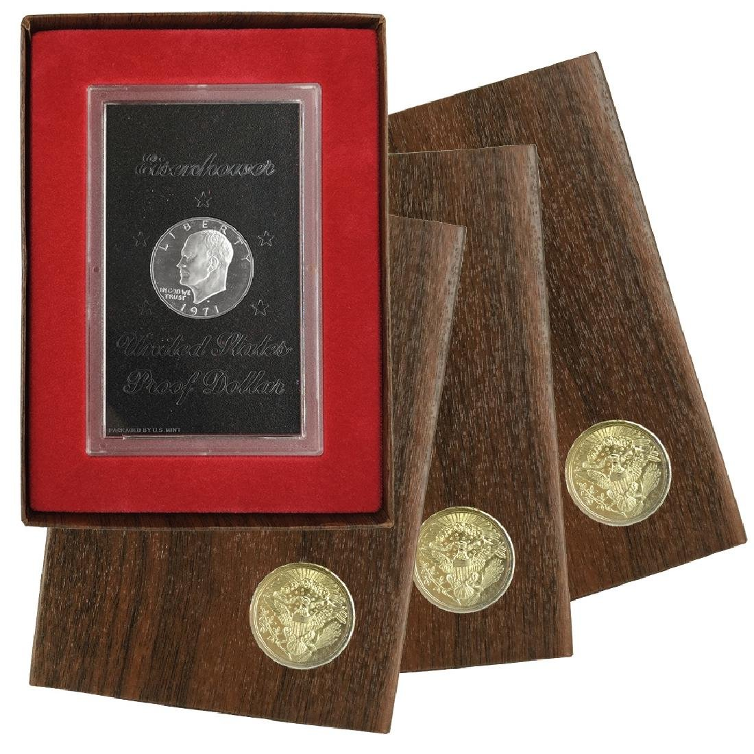 1971-1974 EISENHOWER DOLLAR PROOF BROWN PACKS