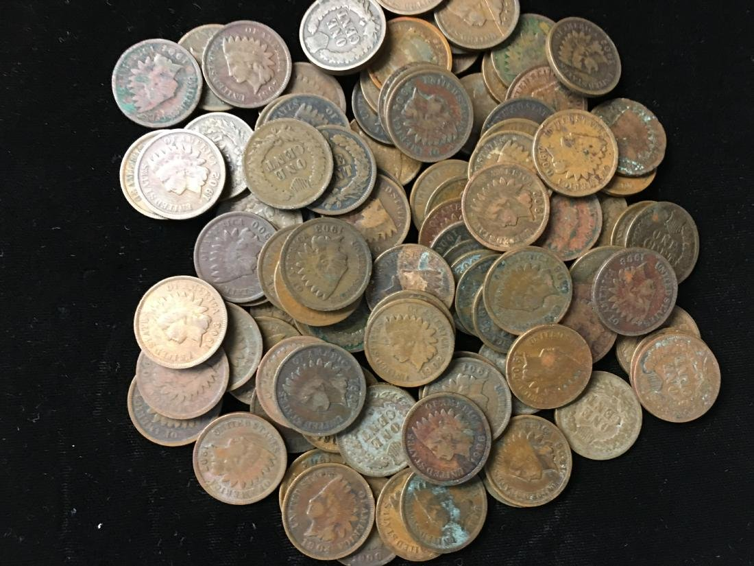 Lot of 100 Mixed 1900's Indian Head Cents - 3