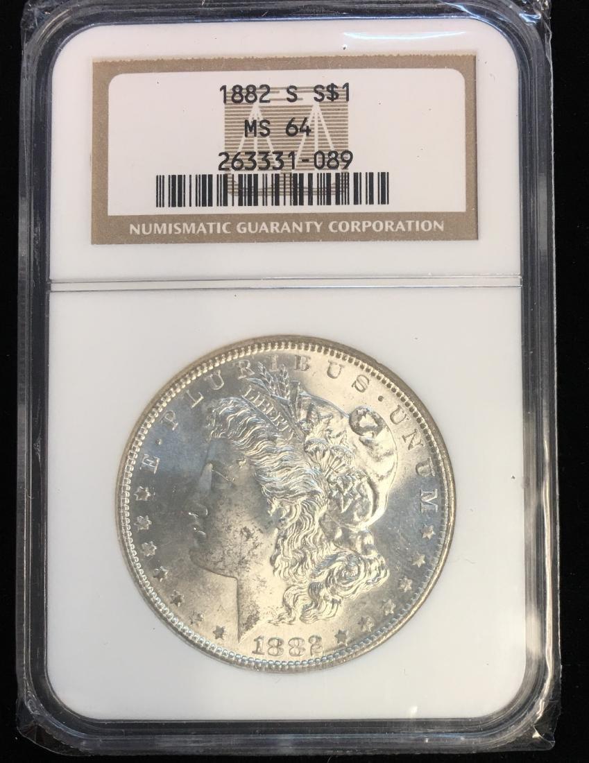 1882-S $1 Morgan Dollar NGC MS64 White