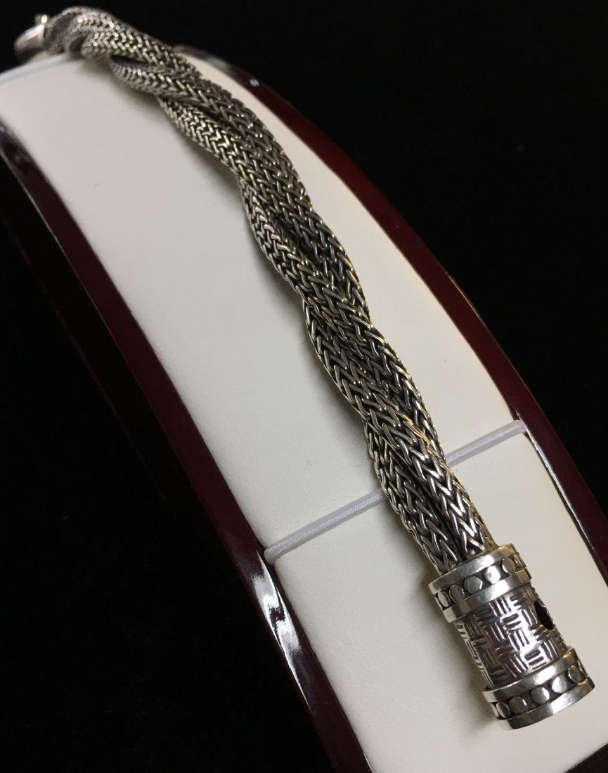 """Sterling Silver Lady's Twisted Approx. Bracelet 8.5"""" - 2"""