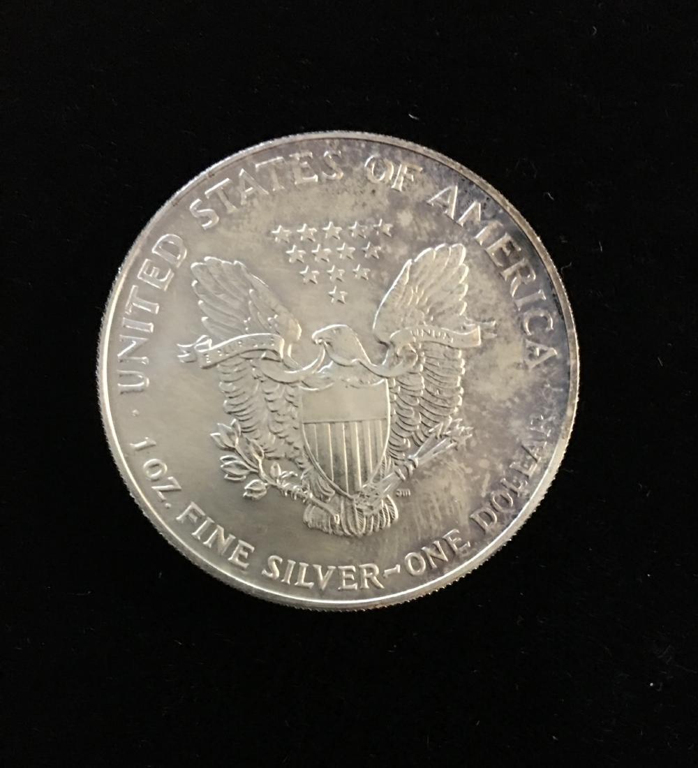 1993 $1 American Silver Eagle BU - 2