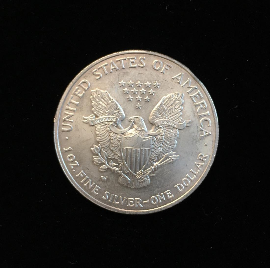 2007-W $1 American Silver Eagle 1oz Fine Silver - 2