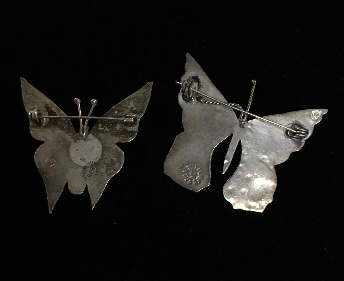 Set of 2 Vintage Mexican Sterling Silver Butterfly - 2
