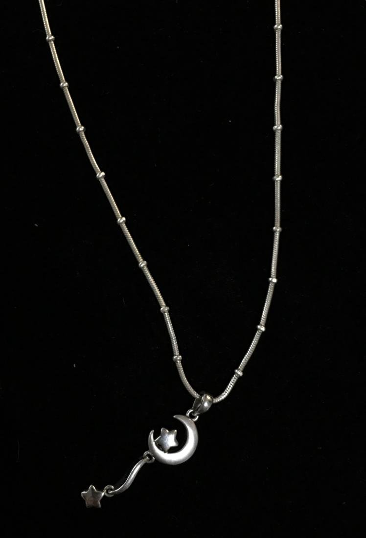"Sterling Silver  Lady's Pendant with Chain 21"" Italy"