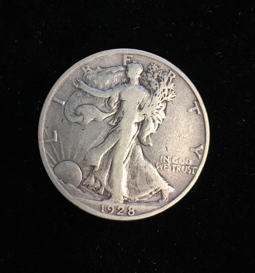 1928-S 50c Walking Liberty Half Dollar Fine