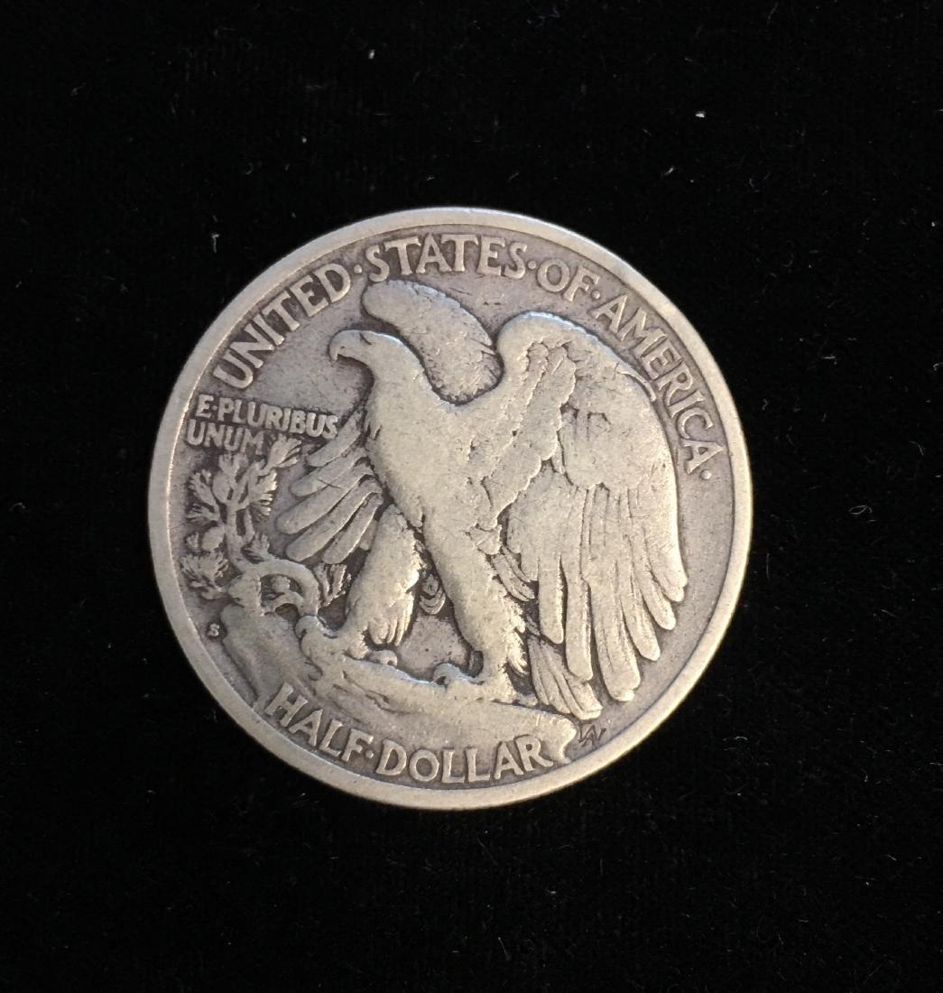 1928-S 50c Walking Liberty Half Dollar Fine - 2