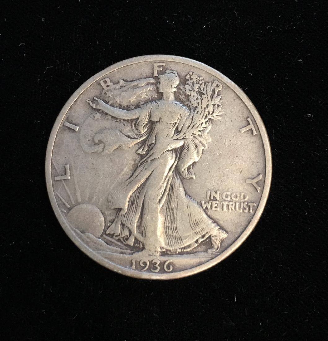 1936-S 50c Walking Liberty Half Dollar VF+