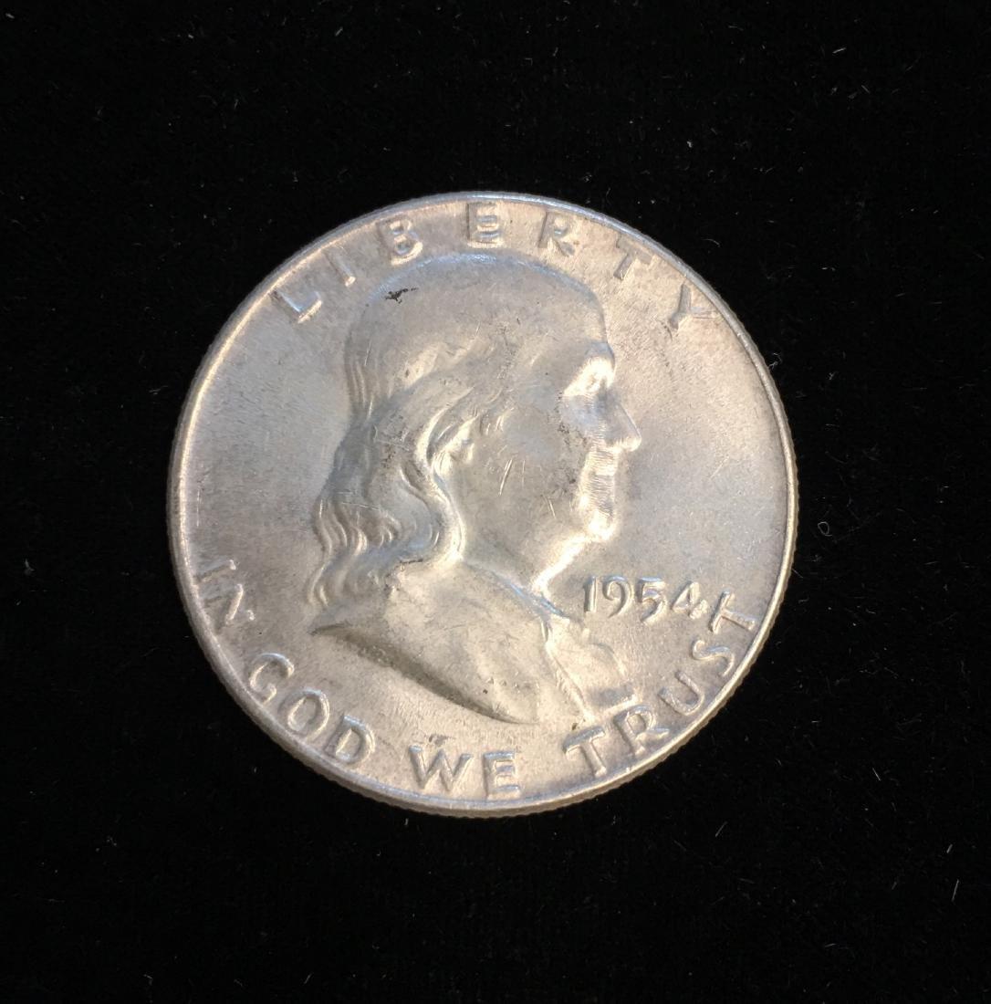 1954-P 50c Franklin Half Dollar UNC